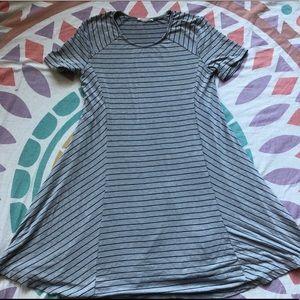 Lush Striped Swing Dress